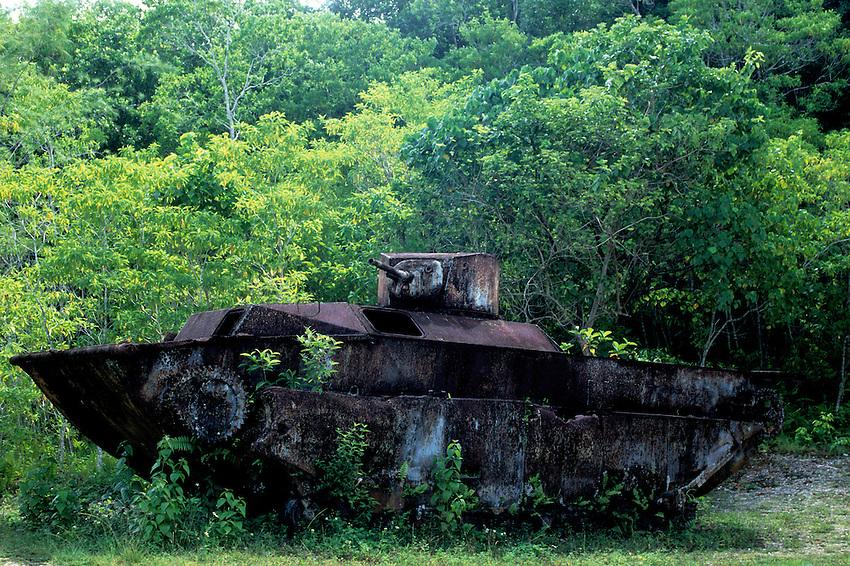 World War II American Tank,<br /> Palau