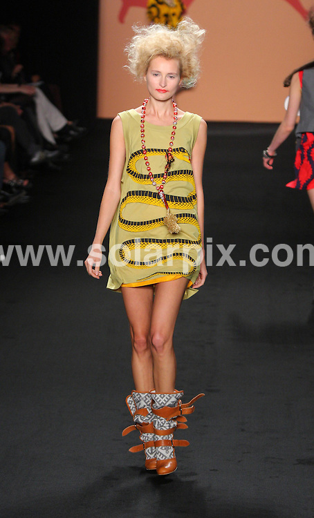 **ALL ROUND PICTURES FROM SOLARPIX.COM**.**SYNDICATION RIGHTS FOR UK AND SPAIN ONLY**.Fashion show of the designer Vivienne Westwood during the Berlin Fashion Week 2008. Berlin, Germany. 20th July 2008..JOB REF: 6879 CPR/Stephan Schraps.DATE: 20_07_2008.**MUST CREDIT SOLARPIX.COM OR DOUBLE FEE WILL BE CHARGED* *UNDER NO CIRCUMSTANCES IS THIS IMAGE TO BE REPRODUCED FOR ANY ONLINE EDITION WITHOUT PRIOR PERMISSION*