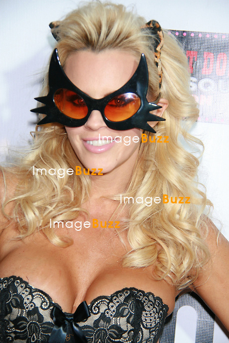 Jenny McCarthy arrives to celebrate her 40th birthday and halloween party at Gallery Nightclub at Planet Hollywood Resort and Casino in Las Vegas. October 31, 2012.