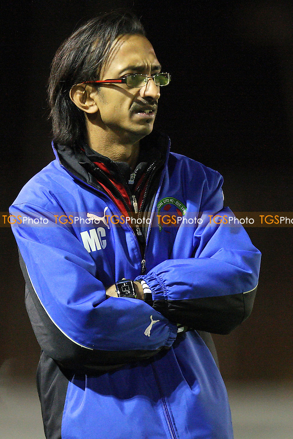 Sporting Bengal manager Mamun Chowdhury - Bethnal Green United vs Sporting Bengal United - Essex Senior League Football at the Mile End Stadium, London - 30/11/11 - MANDATORY CREDIT: Gavin Ellis/TGSPHOTO - Self billing applies where appropriate - 0845 094 6026 - contact@tgsphoto.co.uk - NO UNPAID USE.