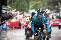 Carlos Betancur (COL/Movistar)<br /> <br /> Elite Men Road Race from Leeds to Harrogate (shortened to 262km)<br /> 2019 UCI Road World Championships Yorkshire (GBR)<br /> <br /> ©kramon