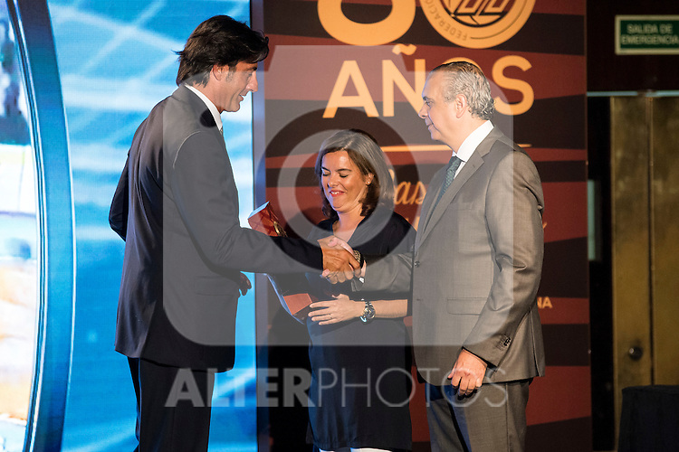 Jordi Villacampa during the 80th Aniversary of the National Basketball Team at Melia Castilla Hotel, Spain, September 01, 2015. <br /> (ALTERPHOTOS/BorjaB.Hojas)