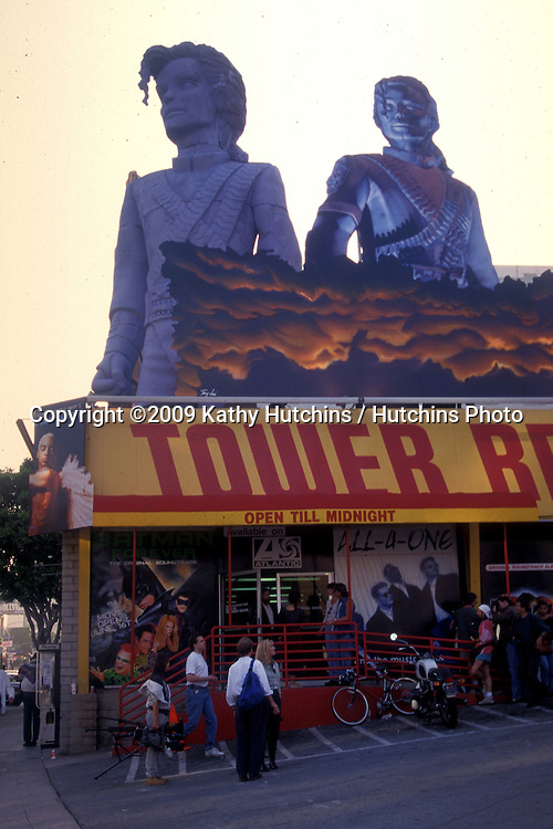 Album promo of Michael Jackson at Tower Records on Sunset Blvd in West Hollywood, CA on    June 21, 1995.©2009 Kathy Hutchins / Hutchins Photo .