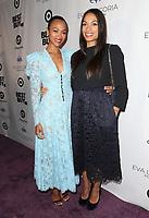 LOS ANGELES, CA - NOVEMBER 8: Zoe Saldana and Rosario Dawson at the Eva Longoria Foundation Dinner Gala honoring Zoe Saldaña and Gina Rodriguez at The Four Seasons Beverly Hills in Los Angeles, California on November 8, 2018. Credit: Faye Sadou/MediaPunch