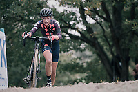 Sophie De Boer (NED/Breepark)<br /> <br /> Women's Elite race<br /> <br /> UCI cyclocross World Cup Koksijde / Belgium 2017