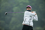 Celine Herbin of France tees off at the 16th hole during Round 3 of the World Ladies Championship 2016 on 12 March 2016 at Mission Hills Olazabal Golf Course in Dongguan, China. Photo by Victor Fraile / Power Sport Images