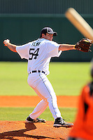 Detroit Tigers pitcher Brian Flynn #54 delivers a pitch during a spring training exhibition game against the Nederlands National Team at Al Lang Field on March 8, 2012 in St. Petersburg, Florida.  (Mike Janes/Four Seam Images)
