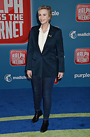 HOLLYWOOD, CA - NOVEMBER 05: Jane Lynch attends the Premiere Of Disney's 'Ralph Breaks The Internet' at the El Capitan Theatre on November 5, 2018 in Los Angeles, California.<br /> CAP/ROT/TM<br /> &copy;TM/ROT/Capital Pictures