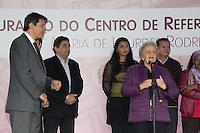 SAO PAULO, SP - 03.06.2016 - HADDAD-SP - ex-ministra da Secretaria de Pol&iacute;ticas para as Mulheres, Eleonora Menicucci, participa da inaugura&ccedil;&atilde;o do Centro de Refer&ecirc;ncia da Mulher &quot;Maria de Lourdes Rodrigues&quot; no bairro do Cap&atilde;o Redondo, zona sul da capital. Na cerim&ocirc;nia o prefeito contou com a presen&ccedil;a do Prefeito de S&atilde;o Paulo, Fernando Haddad, Djamila Ribeiro, Secretaria adjunta de Direitos Humanos, a Secretaria de Pol&iacute;ticas para as Mulheres, Denise Motta Dau e do sub-prefeito do Campo Limpo, Antonio Carlos Ganem.<br /> <br /> (Foto: Fabricio Bomjardim / Brazil Photo Press)