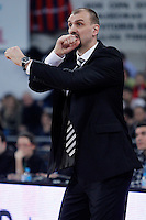 Caja Laboral Baskonia's coach Zan Tabak during Spanish Basketball King's Cup semifinal match.February 07,2013. (ALTERPHOTOS/Acero) /NortePhoto