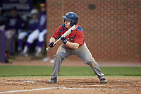 Tom Brady (23) of the NJIT Highlanders squares to bunt against the High Point Panthers at Williard Stadium on February 18, 2017 in High Point, North Carolina. The Highlanders defeated the Panthers 4-2 in game two of a double-header. (Brian Westerholt/Four Seam Images)