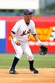 July 7th 2008:  Shortstop Jose Coronado of the Binghamton Mets, Class-AA affiliate of the New York Mets, during a game at NYSEG Stadium in Binghamton, NY.  Photo by:  Mike Janes/Four Seam Images
