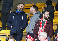 Fleetwood Town fans enjoy the atmosphere inside Valley Parade<br /> <br /> Photographer David Shipman/CameraSport<br /> <br /> The EFL Sky Bet League One - Bradford City v Fleetwood Town - Saturday 9th February 2019 - Valley Parade - Bradford<br /> <br /> World Copyright &copy; 2019 CameraSport. All rights reserved. 43 Linden Ave. Countesthorpe. Leicester. England. LE8 5PG - Tel: +44 (0) 116 277 4147 - admin@camerasport.com - www.camerasport.com