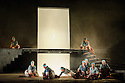 """English Touring Opera presents """"Iphigenie en Tauride"""", by Christoph Willibald Gluck, directed by James Conway, with lighting design by Guy Hoare, at the Hackney Empire. Picture shows: The company"""