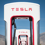 Tesla electric automobile charging station, Hawthorne, Nevada