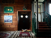Inside the Mosque in Kruszyniany village. Poland <br /> Kruszyniany village in east Poland where Muslims, Catholics and Orthodox live together. <br /> <br /> Photo: Adam Lach, n-ost, Napo Images