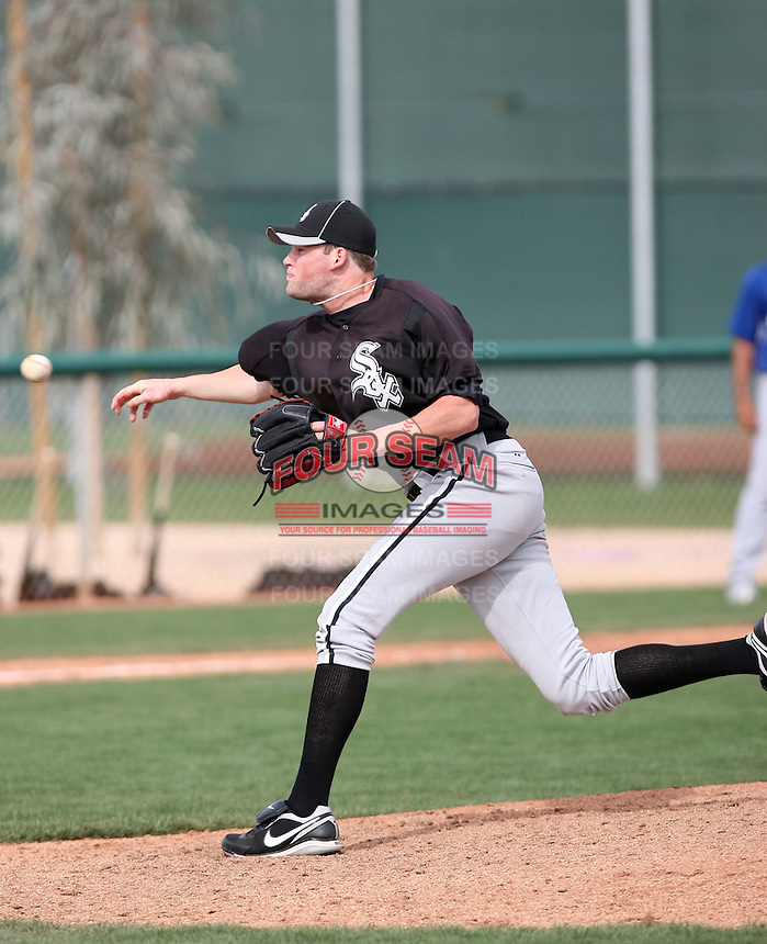 Tyson Corley, Chicago White Sox minor league spring training..Photo by:  Bill Mitchell/Four Seam Images.