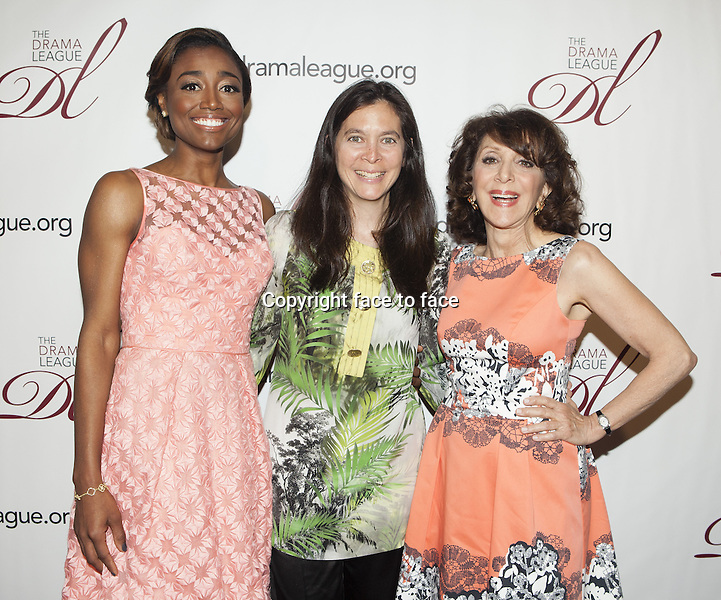 NEW YORK, NY - MAY 17: Patina Miller, Diane Paulus and Andrea Martin attend the 79th Annual Drama League Awards Ceremony And Luncheon at Marriott Marquis Hotel on May 17, 2013 in New York City. ..Credit: MediaPunch/face to face..- Germany, Austria, Switzerland, Eastern Europe, Australia, UK, USA, Taiwan, Singapore, China, Malaysia, Thailand, Sweden, Estonia, Latvia and Lithuania rights only -