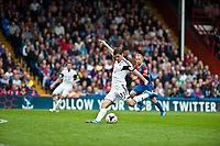 Sun 22 September 2013<br /> <br /> Pictured: Ben Davies of Swansea kicks the ball downfield <br /> <br /> Re: Barclays Premier League Crystal Palace FC  v Swansea City FC  at Selhurst Park, London