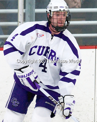 Mike Kavanagh (Curry - 4) - The Curry College Colonels defeated the Becker College Hawks 5-1 in their ECAC Northeast Semi-Final matchup on Wednesday, March 2, 2011, at Max Ulin Rink in Milton, Massachusetts.