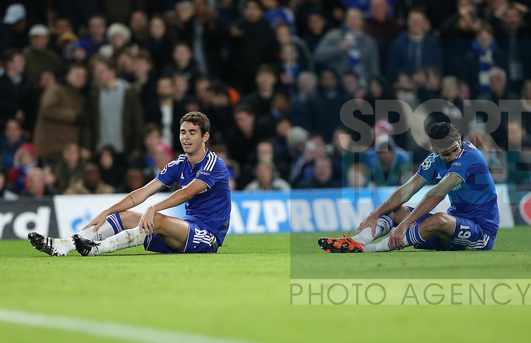 Chelsea's Oscar and Diego Costa look on after a missed chance<br /> <br /> UEFA Champions League - Chelsea v FC Porto - Stamford Bridge - England - 9th December 2015 - Picture David Klein/Sportimage