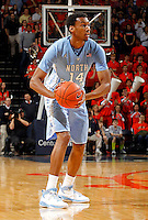North Carolina forward Desmond Hubert (14) handles the ball during the game against Virginia at the John Paul Jones arena in Charlottesville, Va. Virginia defeated North Carolina 61-52.