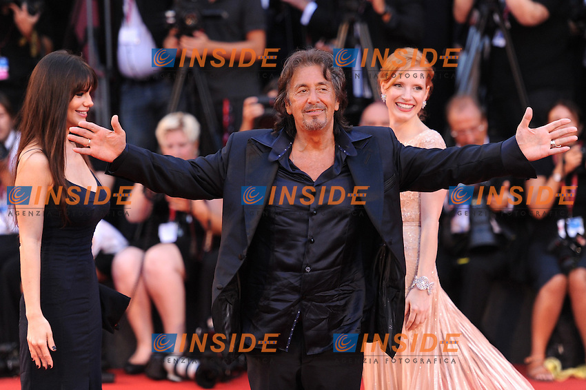 Jessica CHASTAIN, Al PACINO.venezia 04-09-2011.68.mostra del cinema.red carpet del film wilde salome.foto insidefoto massimo oliva