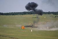 - military polygon of Monteromano, artillery shooting <br /> <br /> - poligono militare di Monte Romano, tiri di artiglieria