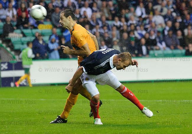 Jordan Rhodes heads Scotland's equaliser