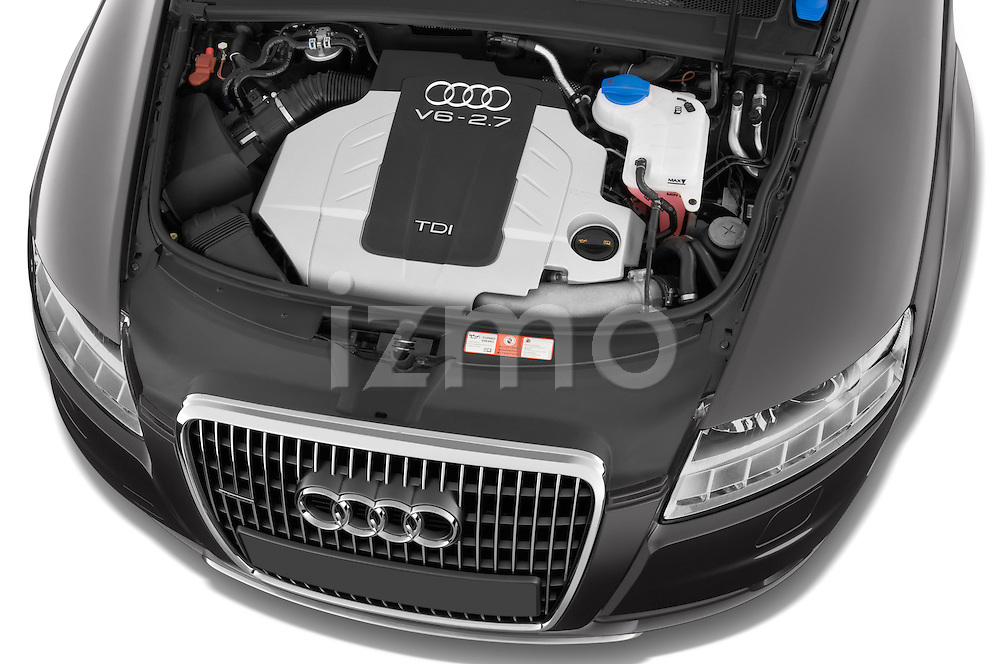 High angle engine detail of a 2006 - 2011 Audi A6 ALLROAD QUATTRO Avus 5-Door Wagon 4WD