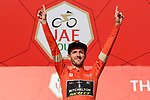 Adam Yates (GBR) Mitchelton-Scott wins solo Stage 3 The Emirates Stage of the UAE Tour 2020 running 184km from Al Qudra Cycle Track to Jebel Hafeet, Dubai. 25th February 2020.<br /> Picture: LaPresse/Fabio Ferrari   Cyclefile<br /> <br /> All photos usage must carry mandatory copyright credit (© Cyclefile   LaPresse/Fabio Ferrari)