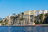 Town of Sorrento as seen from the water, Italy