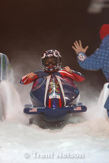 Trent Nelson  |  The Salt Lake Tribune.Erin Pac and Elana Meyers in the USA2 sled are in second place after the first two heats of Women's Bobsled, XXI Olympic Winter Games in Whistler, Tuesday, February 23, 2010.