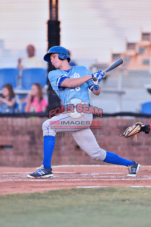 Burlington Royals first baseman Tyler Straub (26) swings at a pitch during Game Two of the Appalachian League Championship series against the Johnson City Cardinals at TVA Credit Union Ballpark on September 7, 2016 in Johnson City, Tennessee. The Cardinals defeated the Royals 11-6 to win the series 2-0.. (Tony Farlow/Four Seam Images)