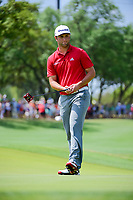 Jon Rahm (ESP) putts on 1 during round 7 of the World Golf Championships, Dell Technologies Match Play, Austin Country Club, Austin, Texas, USA. 3/26/2017.<br /> Picture: Golffile | Ken Murray<br /> <br /> <br /> All photo usage must carry mandatory copyright credit (&copy; Golffile | Ken Murray)