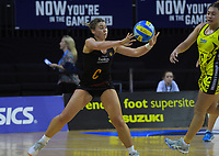 Ali Wilshier in action during the Beko Netball League match between Central Manawa and Waikato Bay Of Plenty at TSB Bank Arena in Wellington, New Zealand on Sunday, 21 April 2019. Photo: Dave Lintott / lintottphoto.co.nz