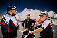 Sep 27, 2019; Madison, IL, USA; NHRA top fuel driver Steve Torrence (center) with crew chief Richard Hogan (right) and Bobby Lagana during qualifying for the Midwest Nationals at World Wide Technology Raceway. Mandatory Credit: Mark J. Rebilas-USA TODAY Sports