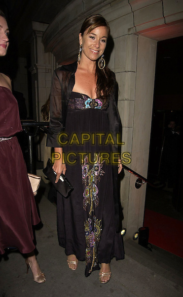 TAMZIN OUTHWAITE.The Royal Court Theatre 50th Anniversary Gala Party, Titanic Nightclub, London, UK..April 26th, 2006.Ref: CAN.full length black sheer dress embroidered print.www.capitalpictures.com.sales@capitalpictures.com.©Capital Pictures