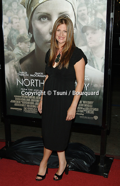 The director Niki Caro arriving at the NORTH COUNTRY Premiere at the Chinese Theatre in Los Angeles. October 10, 2005.