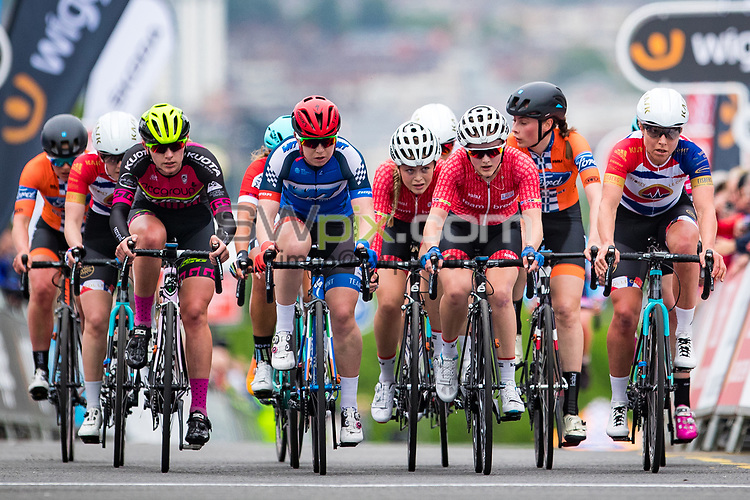Picture by Alex Whitehead/SWpix.com - 23/05/2017 - Cycling - Tour Series Round 7, Motherwell - Matrix Fitness Grand Prix - Team Breeze's Megan Barker.