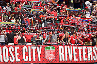Portland, OR - Saturday July 15, 2017: Thorns supporters during a regular season National Women's Soccer League (NWSL) match between the Portland Thorns FC and the North Carolina Courage at Providence Park.