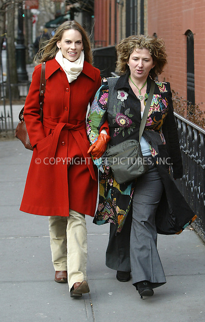 WWW.ACEPIXS.COM . . . . .  ....NEW YORK, JANUARY 7, 2005....Hilary Swank spent the day out from her West Village home going to lunch at Tartine and returns with shopping bags and furniture.....Please byline: Ian Wingfield - ACE PICTURES..... *** ***..Ace Pictures, Inc:  ..Alecsey Boldeskul (646) 267-6913 ..Philip Vaughan (646) 769-0430..e-mail: info@acepixs.com..web: http://www.acepixs.com