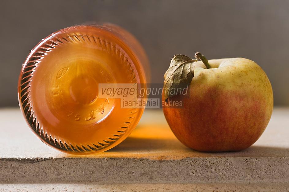 Gastronomie Générale:  Pomme et Bouteille de Cidre