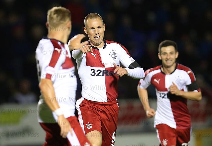 Kenny Miller celebrates his goal