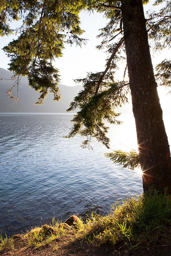 Crescent Lake in Olympic National Park, Washington State, WA, USA