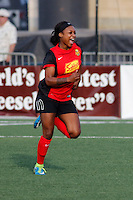 Rochester, NY - Friday May 27, 2016: Western New York Flash forward Taylor Smith (11) celebrates scoring during a regular season National Women's Soccer League (NWSL) match at Rochester Rhinos Stadium.
