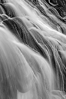 A close-up abstract of the Gibbon Wterfall in Yellowstone National Park.