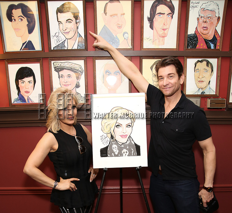 Orfeh and Andy Karl during the Sardi's Portrait unveiling for Orfeh on July 18, 2019 in New York City.