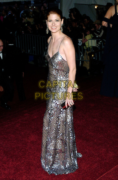 """DEBRA MESSING .2007 Metropolitan Museum of Art Costume Institute Gala celebrating """"Poiret: King of Fashion"""" exibition at the Metropolitan Museum of Art, New York City, New York, USA..May 7th, 2007.full length silver jewel encrusted dress silver clutch purse.CAP/ADM/BL.©Bill Lyons/AdMedia/Capital Pictures *** Local Caption ***"""