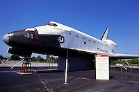 Space shuttle at Cape kennedy launch facility in Florida, USA